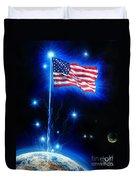 American Flag. The Star Spangled Banner Duvet Cover