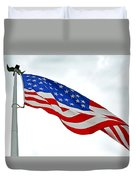 American Flag With Eagle Duvet Cover