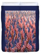 American Flags In Tampa Duvet Cover