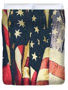 American Flags Painted Square Format Duvet Cover