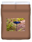 American Goldfinch At Water Bowl Duvet Cover