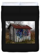 American Graffiti 4   Zig Zag Man Duvet Cover