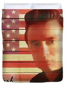 American Icon Johnny Cash Duvet Cover