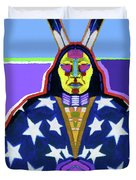 American Indian By Nixo Duvet Cover