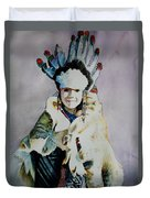 American Indian Girl Duvet Cover