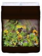 American Lady Butterfly Seaside Duvet Cover