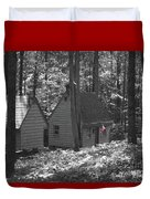 American Little House In The Woods Duvet Cover