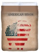 American Mammal The Bison Duvet Cover
