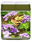 Yellow Eastern Tiger Swallowtail Series Duvet Cover