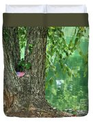 American Pride By The Pond Duvet Cover