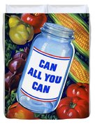 American Propaganda Poster Promoting Canned Food Duvet Cover