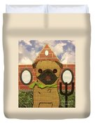 American Pug Gothic Duvet Cover