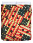 American Quilting Background Duvet Cover