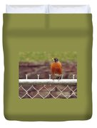 American Robin  In Spring          March            Indiana Duvet Cover