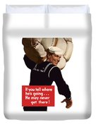 American Sailor -- Ww2 Propaganda Duvet Cover
