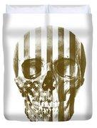 American Skull Beige Duvet Cover