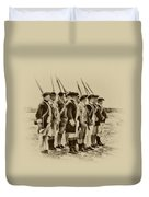 American Soldiers At Fort Mifflin Duvet Cover