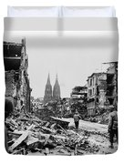 American Soldiers In Cologne, Germany Duvet Cover