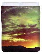 American Sunset As Vintage Album Art Duvet Cover