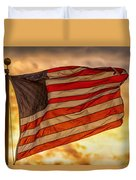American Sunset On Fire Duvet Cover