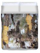 American Sycamore Bark Duvet Cover