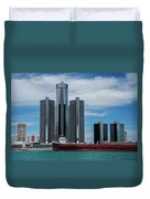 American Victory At Detroit Duvet Cover