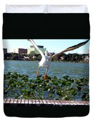 American White Pelican 007 Duvet Cover