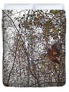 American Woodcock In October Foliage Duvet Cover