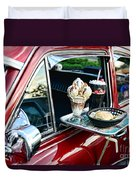 Americana - The Car Hop Duvet Cover