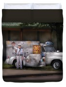 Americana -  We Sell Ice Cream Duvet Cover by Mike Savad