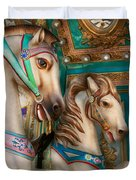Americana - Carousel Beauties Duvet Cover
