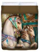 Americana - Carousel Beauties Duvet Cover