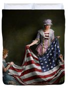 Americana - Flag - Birth Of The American Flag 1915 Duvet Cover