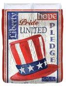 Americana Patriotic Duvet Cover