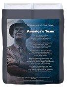 America's Team Poetry Art Duvet Cover by Stanley Mathis