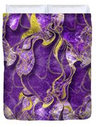 Amethyst  With Gold Marbled Texture Duvet Cover