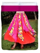Ameynra Belly Dance Fashion - Multi-color Skirt 93 Duvet Cover