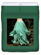 Ameynra Design Aqua-green Chiffon Skirt Duvet Cover