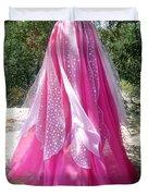Ameynra Design - Pink-white Petal Skirt 146 Duvet Cover