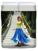 Ameynra Fashion. Petal Skirt. Model Sofia Duvet Cover