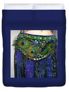 Ameynra Fashion Skirt With Peacock Feathers Duvet Cover