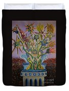 Amidst The Blooms  Duvet Cover