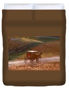 Amish Buggy Afternoon Sun Duvet Cover