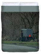 Amish Buggy Parked By A Creek Duvet Cover