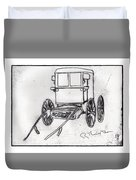 Amish Buggy Duvet Cover