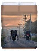 Amish Buggy Sunday Morning Duvet Cover