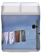 Amish Clothesline Duvet Cover