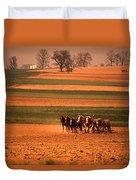 Amish Country Farm Landscape Duvet Cover