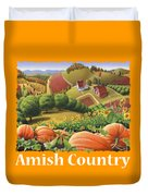 Amish Country T Shirt - Pumpkin Patch Country Farm Landscape 2 Duvet Cover