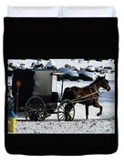 Amish Crossing Duvet Cover